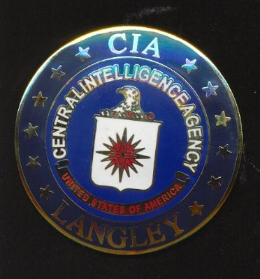 Placa de Pecho de la  CIA ( Central Intelligence Agency)